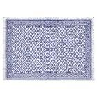 tapis bleu motifs losanges anciens | zara home