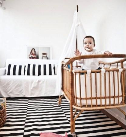 Idées déco pour de jolies chambres d'enfant en Noir & Blanc