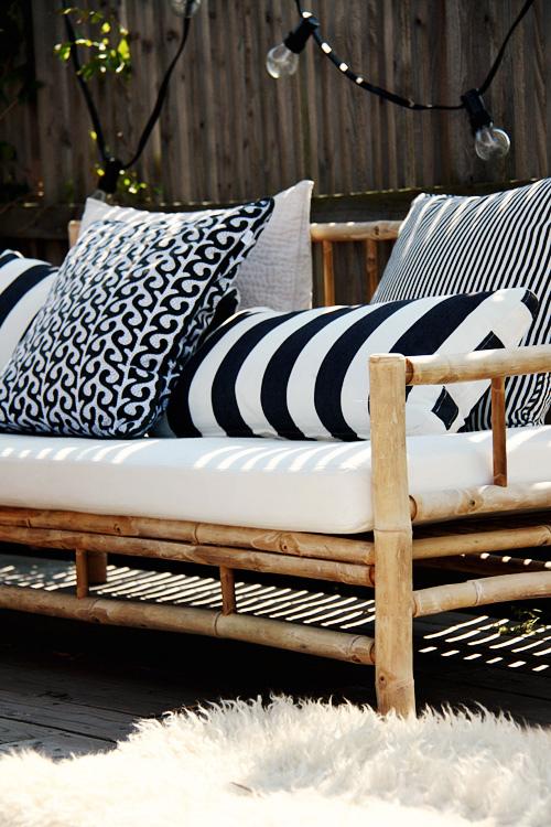 Coup de ♥ déco | Une terrasse scandinave en Noir & Blanc