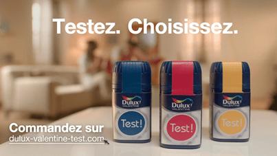 Test ! Les testeurs de peinture par Dulux Valentine pour une déco ombrée dégradée | www.decocrush.fr