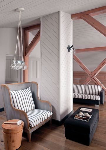 Lundi douceur...Un chalet moderne en camaïeu de gris ! | www.decocrush.fr