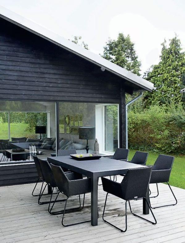 30 id u00e9es d u00e9co pour une terrasse scandinave en noir et