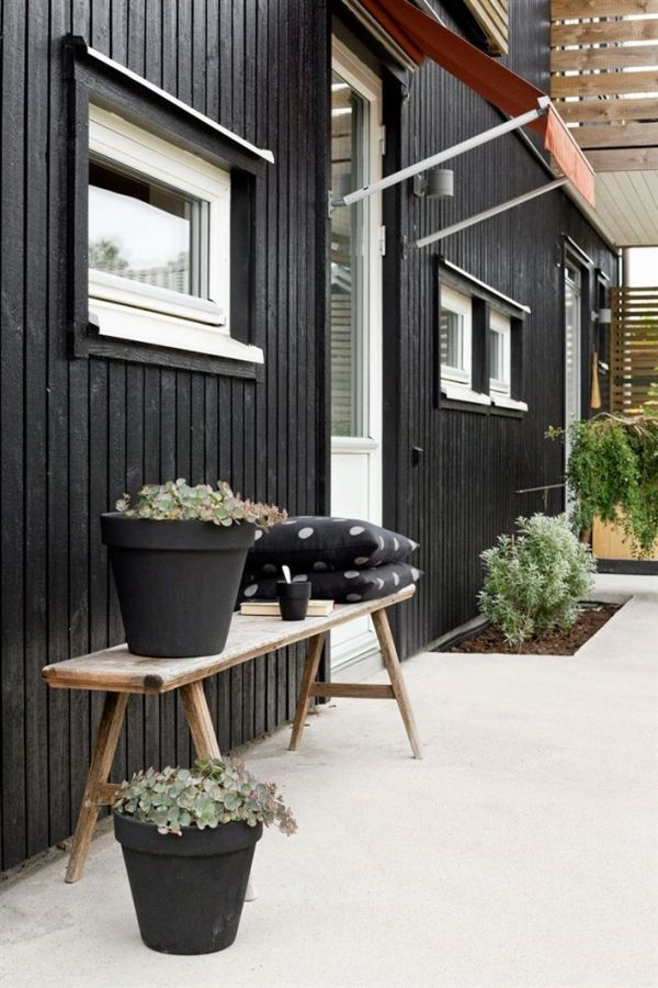 30 id es d co pour une terrasse scandinave en noir et blanc decocrush. Black Bedroom Furniture Sets. Home Design Ideas