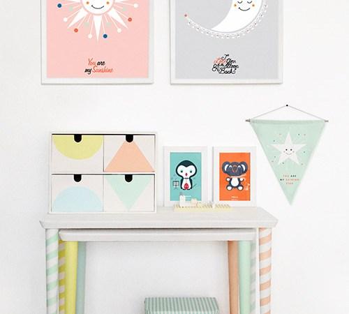 DIY : un bureau graphique et coloré pour les enfants