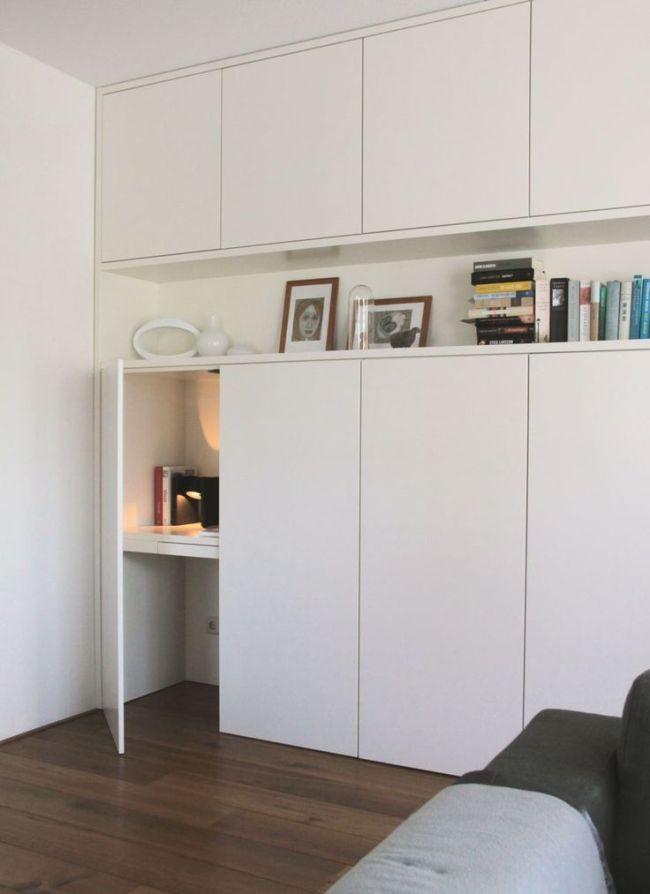 Inspiration DIY : bureau escamotable petits espaces avec des meubles de cuisine