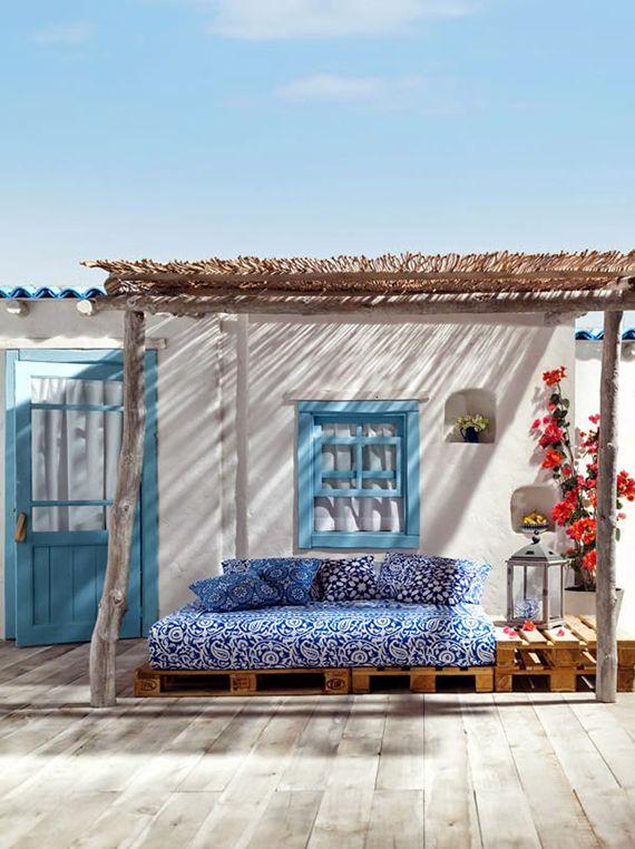 canapé palette terrasse