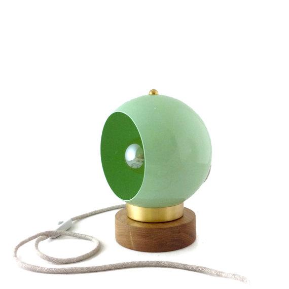 Petite lampe rétro coloris mint