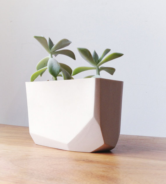 Etsy Crush | 16 essentiels pour une rentrée en douceur : pot en porcelaine de bean and bailey | @decocrush - www.decocrush.fr