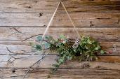 Couronne de Noël minimaliste pour un Noël naturel