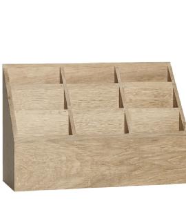 Rangement de bureau en chêne par Hübsch chez Decoclico