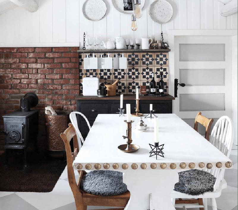 Une cuisine rustique chic à la scandinave