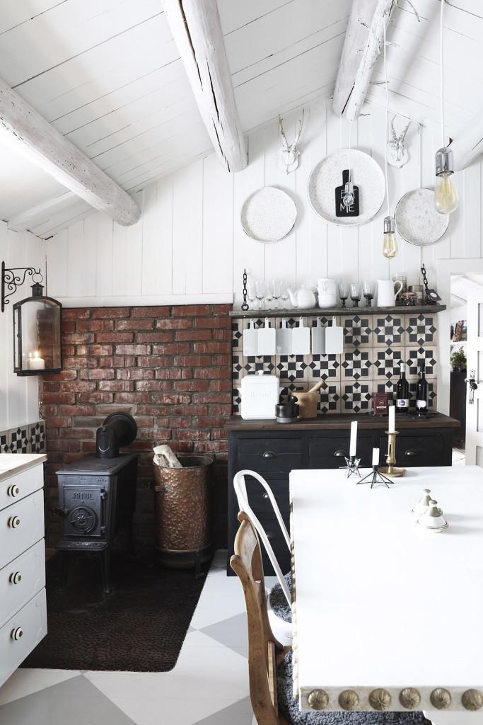 une cuisine rustique chic la scandinave decocrush d corez avec intention. Black Bedroom Furniture Sets. Home Design Ideas