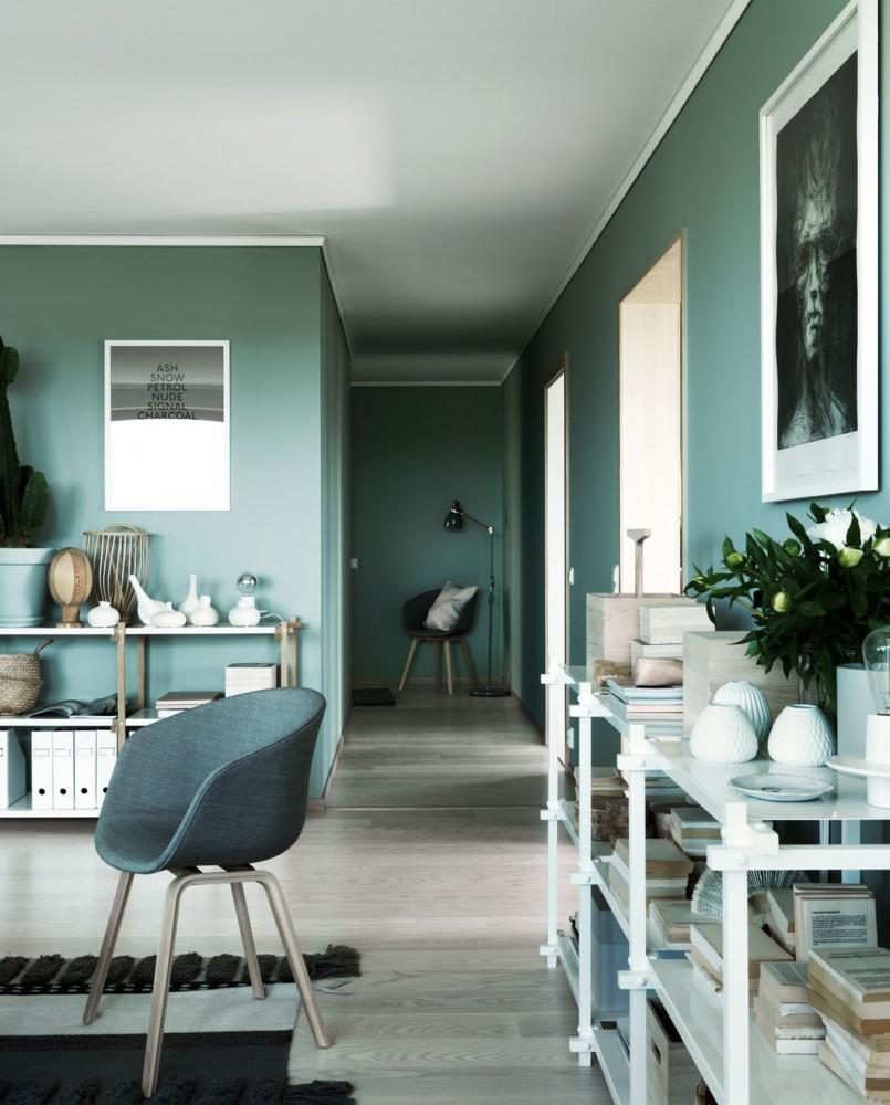 Un salon tout vert
