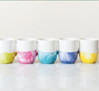 DIY : Effet marbré coloré avec du vernis à ongles