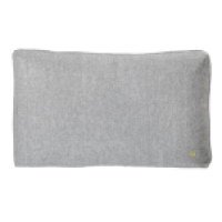 Coussin rectangle gris