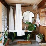 Salle de bain originale et green
