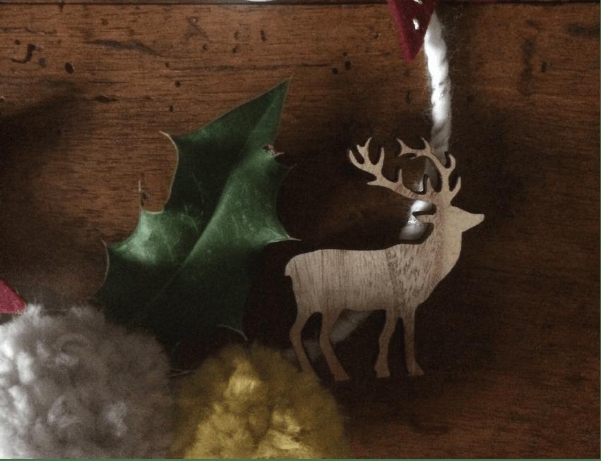 DIY : La mini couronne de Noël d'Eline et Laines