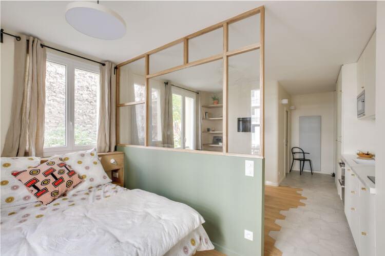 Un appartement parisien de 31 m2 entièrement rénové à découvrir sur www.decocrush.fr - @decocrush