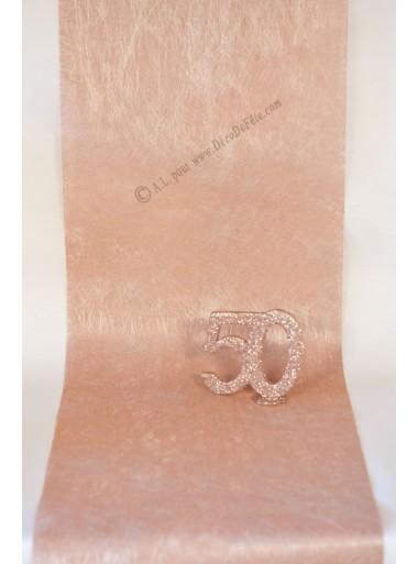 10m chemin de table reflet rose gold
