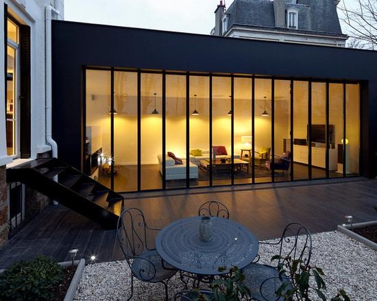 Idee Extension Maison Great Agrandir Deux Maisons En Une