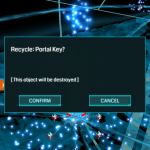 Recycle Portal Key Warning