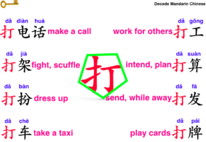 collocations of 打