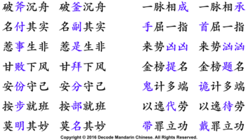 Frequently misused homophones in Chinese set phrases