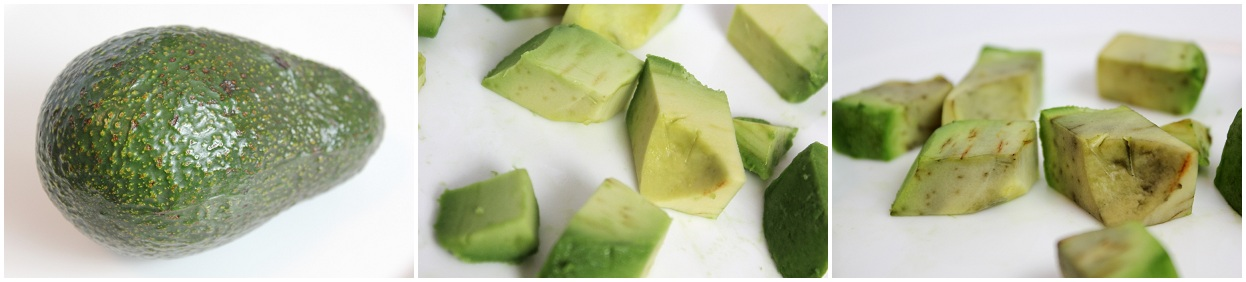 Avocado, whole, (diced) fresh, brown