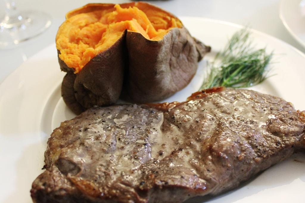Beef Shell Steak and Sweet Potato