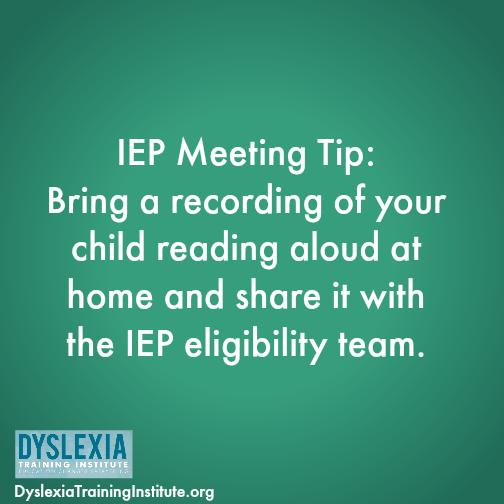 IEP meeting tip
