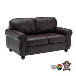 Living Room Sofas South Africa 2 Blue Chairs For Kingsley Genuine Leather Seater Decofurn Factory Shop On Sale