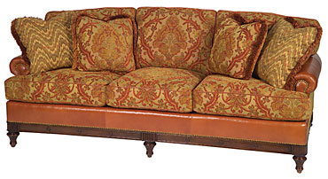 Today 39 s idea what to do with your old leather sofa for Old fashioned couch