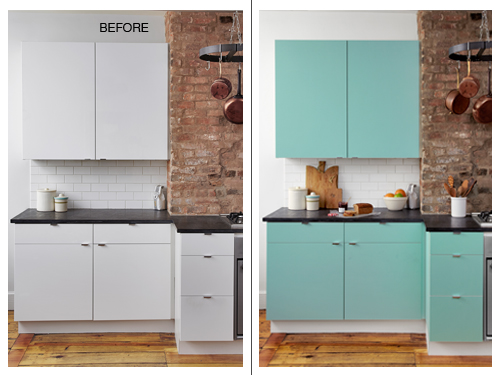 Today 39 s idea small changes big effect decogirl montreal home decorating blog - Kitchen wow mini makeovers ...