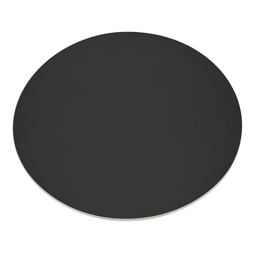 11 sets de table rond fashion noir aspect lisse