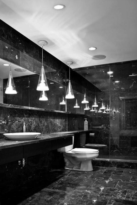 Experiencing Elegant Peace in Black Marble Bathroom  Decohoms
