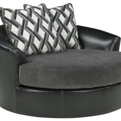 Small Round Chair Office Leans Forward A One And Half Gettin Decohoms Black With Grey Cushion Swuare Pillows