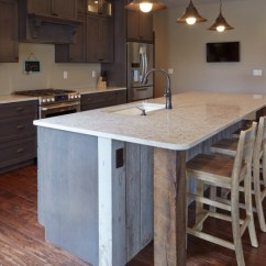 Long Kitchen Island With Seating Swinging Doors Hanging Around The | Decohoms