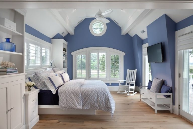 Different Blue Shades in the Bedroom with Different Tales
