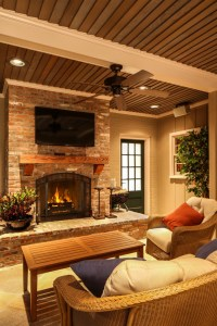 Cedar Mantle Brick Fireplace Designs to Get Inspirations ...