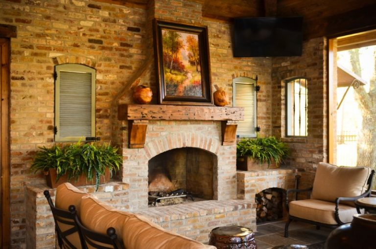 Cedar Mantle Brick Fireplace Designs to Get Inspirations From  Decohoms
