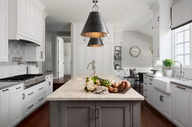 Great Grey Quartz Countertop White Kitchen Combo Ideas to Try  Decohoms