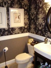 Half Bathroom Wallpaper - Bathroom Design Ideas
