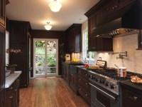 Complementing Dark Wood Kitchen Cabinet | Decohoms