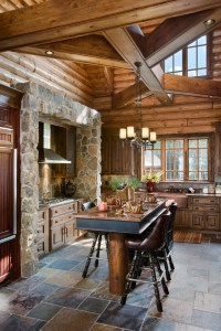 Astonishing Two Floor Stone and Log House Inspirations for ...