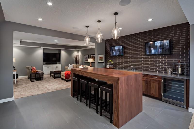 Exceptional Ideas Of Basement Bar Decohoms