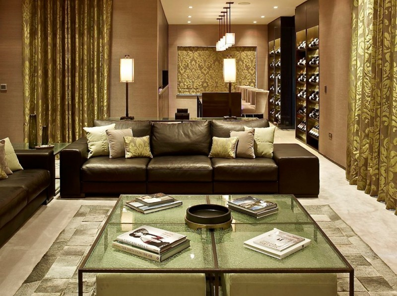 wallpaper ideas for living room india l shaped couch small aesthetically pleasing pillows leather   decohoms