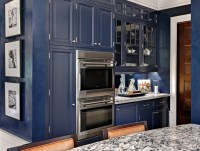 Great Ideas Using Navy Blue Kitchen Cabinets | Decohoms