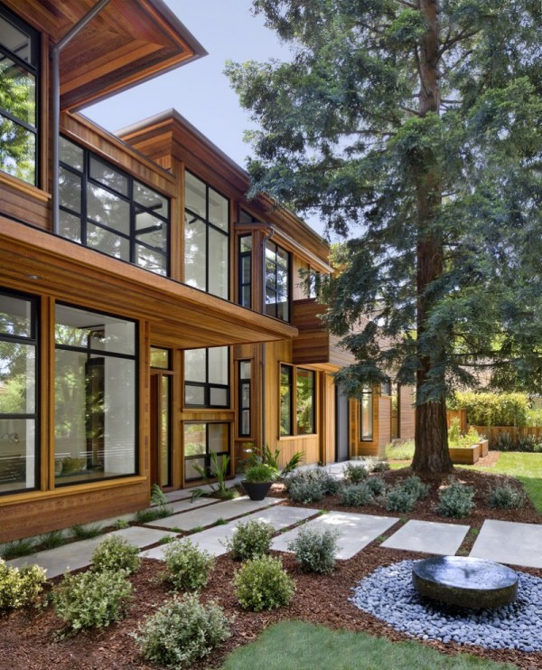 cool modern simple wooden house
