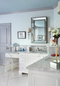 Longer Vanity with L Shaped Vanity in the Bathroom | Decohoms