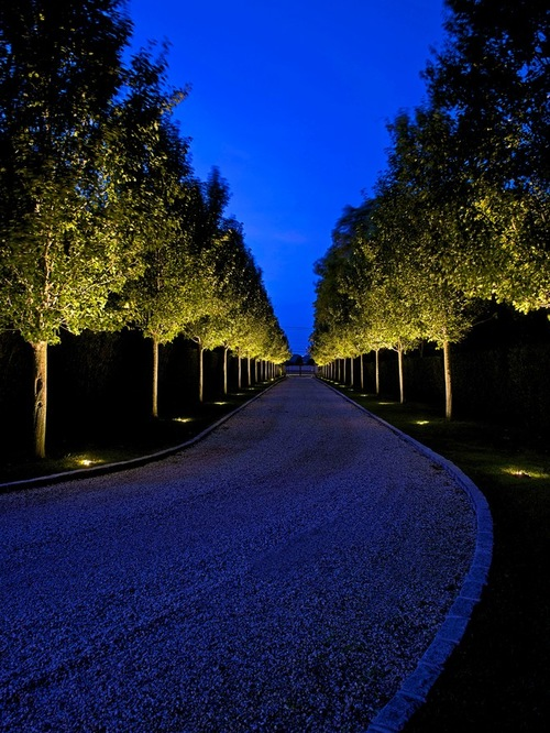 divine ideas of driveway lighting